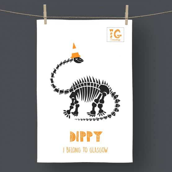 Scottish Dippy tea towel