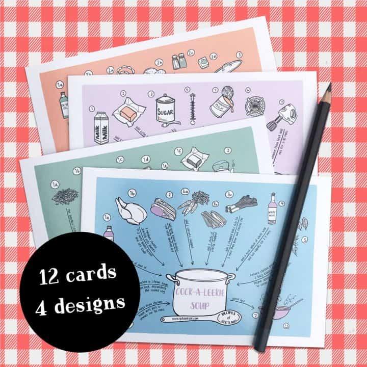 Gillian Kyle Recipes of Scotland Notecards