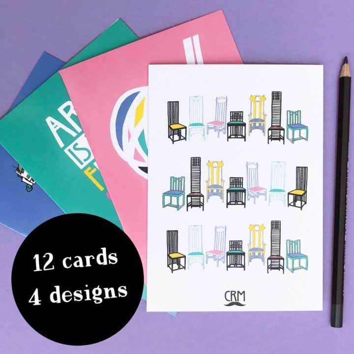 Gillian Kyle Charles Rennie Mackintosh notecards