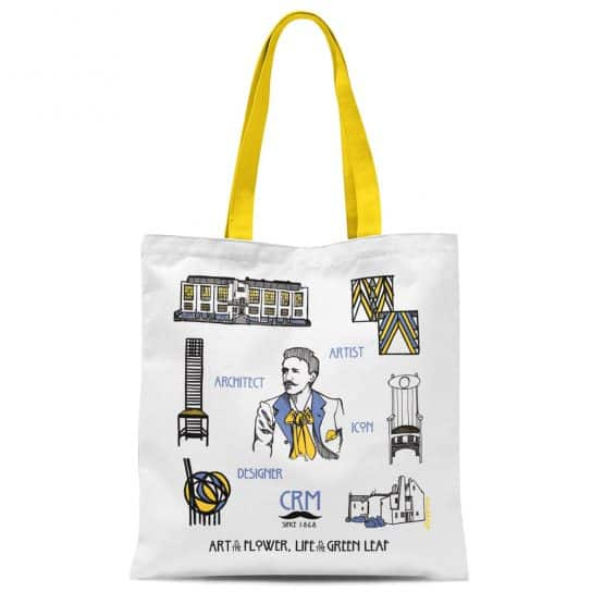 Charles Rennie Mackintosh Scottish tote by Gillian Kyle