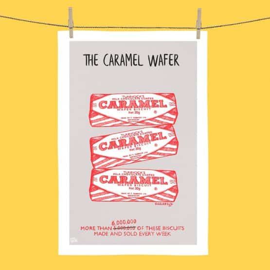 6 Million Tunnocks Caramel Wafer tea towel