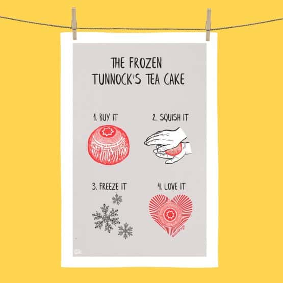 The Frozen Tunnocks Tea Cake tea towel