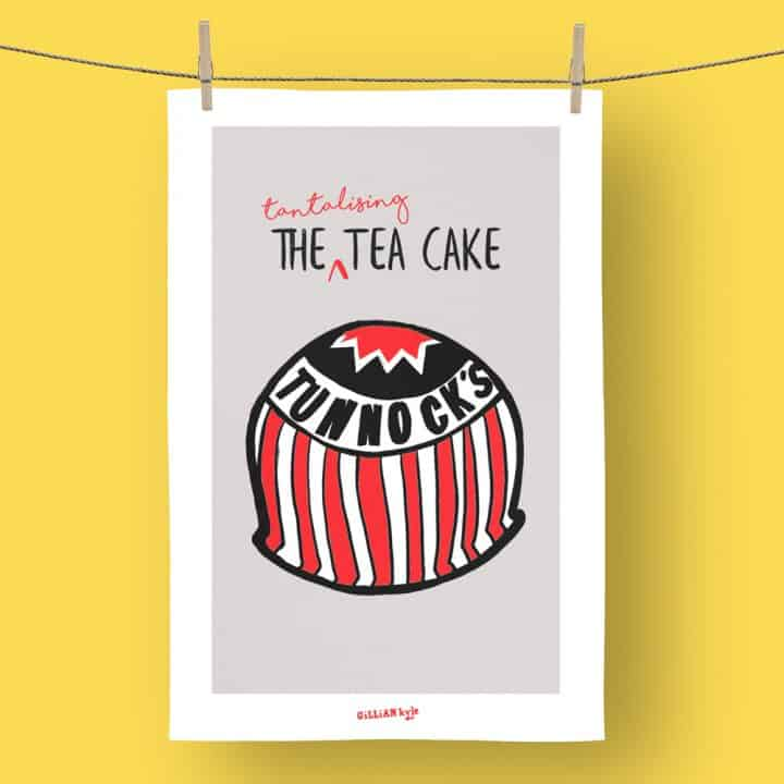 Tunnock's Tantalising Tea Cake tea towel