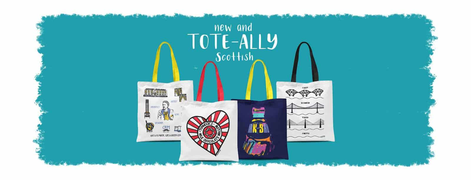 Scottish tote bags