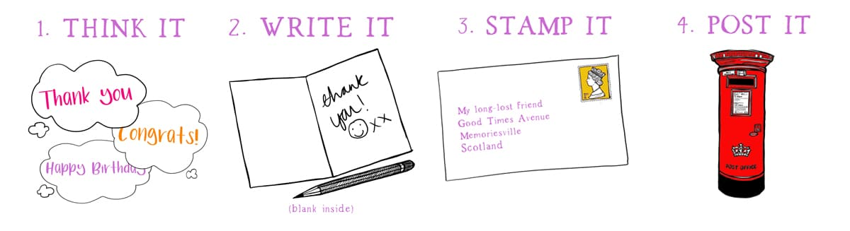 hand written Scottish cards