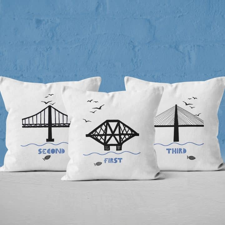 Forth Bridges cushion collection