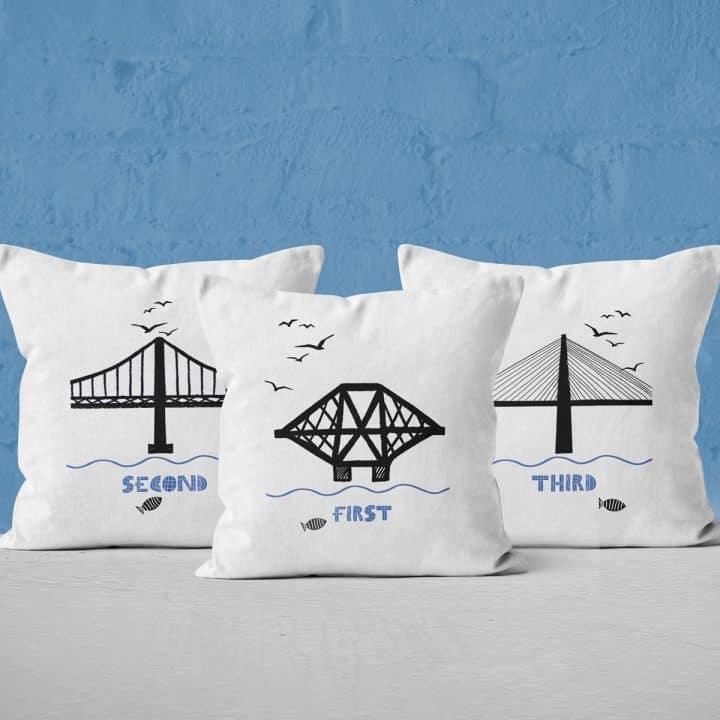 Forth Bridges cushion collection