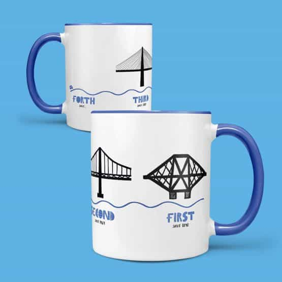 The 3 Forth Bridges mug