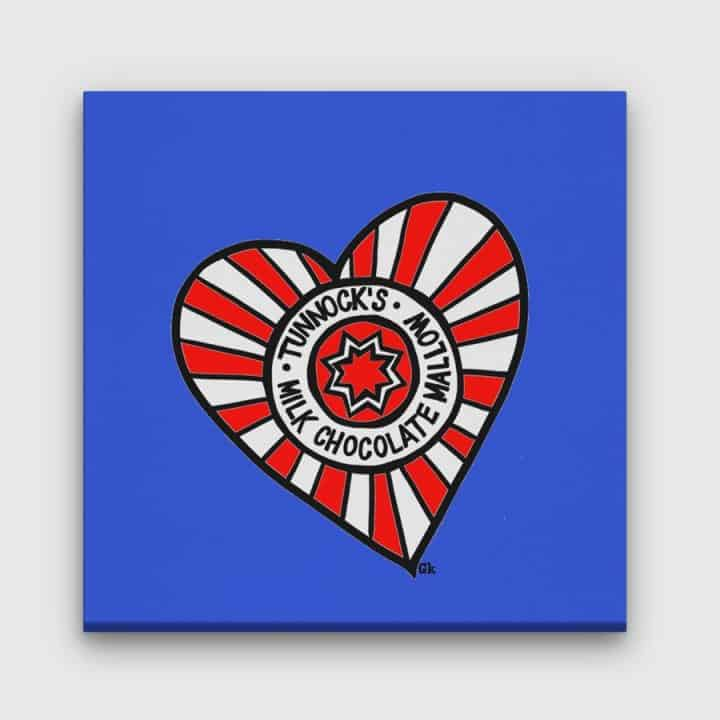 Tunnock's Heart canvas blue