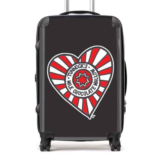Tunnock's Suitcase with Tunnock's Tea Cake Heart design