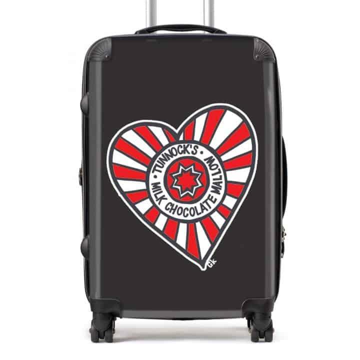 Tunnock's Suitcase with Tunnock's Tea Cake Heart design