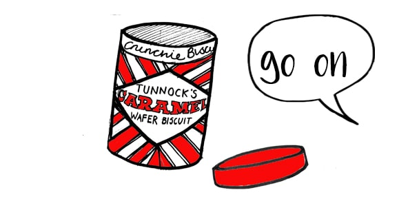 Tunnocks tin by Gillian Kyle