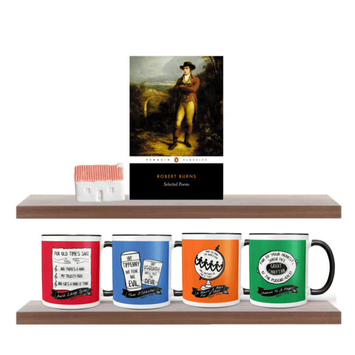 Robert Burns mugs range by Gillian Kyle