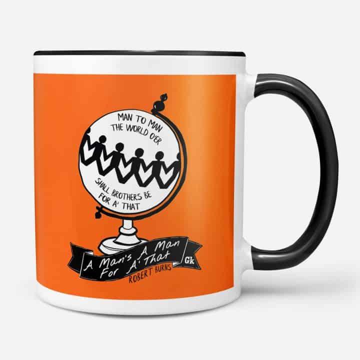 Robert Burns A Man's a Man for a' That mug
