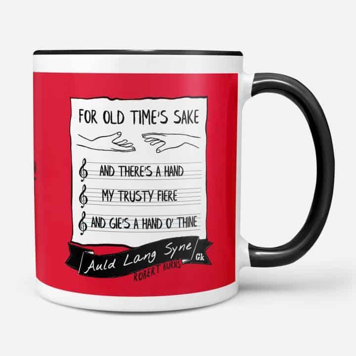 Robert Burns Auld Lang Syne mug