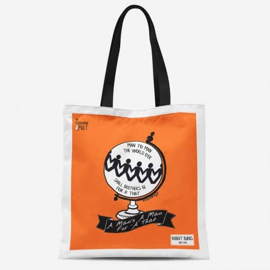 Robert Burns A Man's A Man Tote Bag