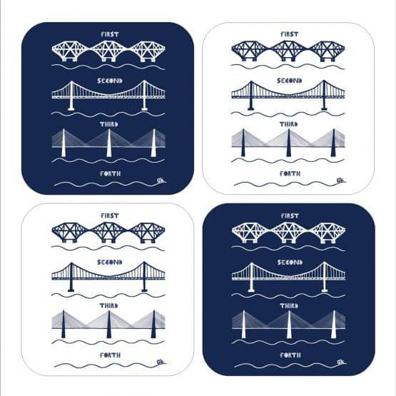 3 Forth Bridges Set of 4 Coasters