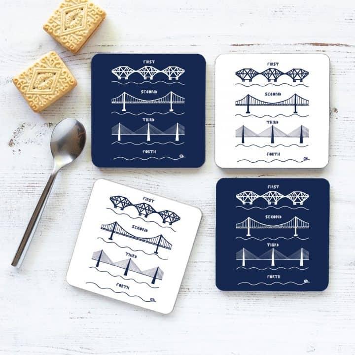 3 Forth Bridges Set of 4 Coasters