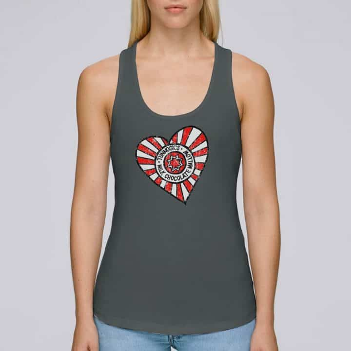 Ladies Tunnock's Heart Vest Top