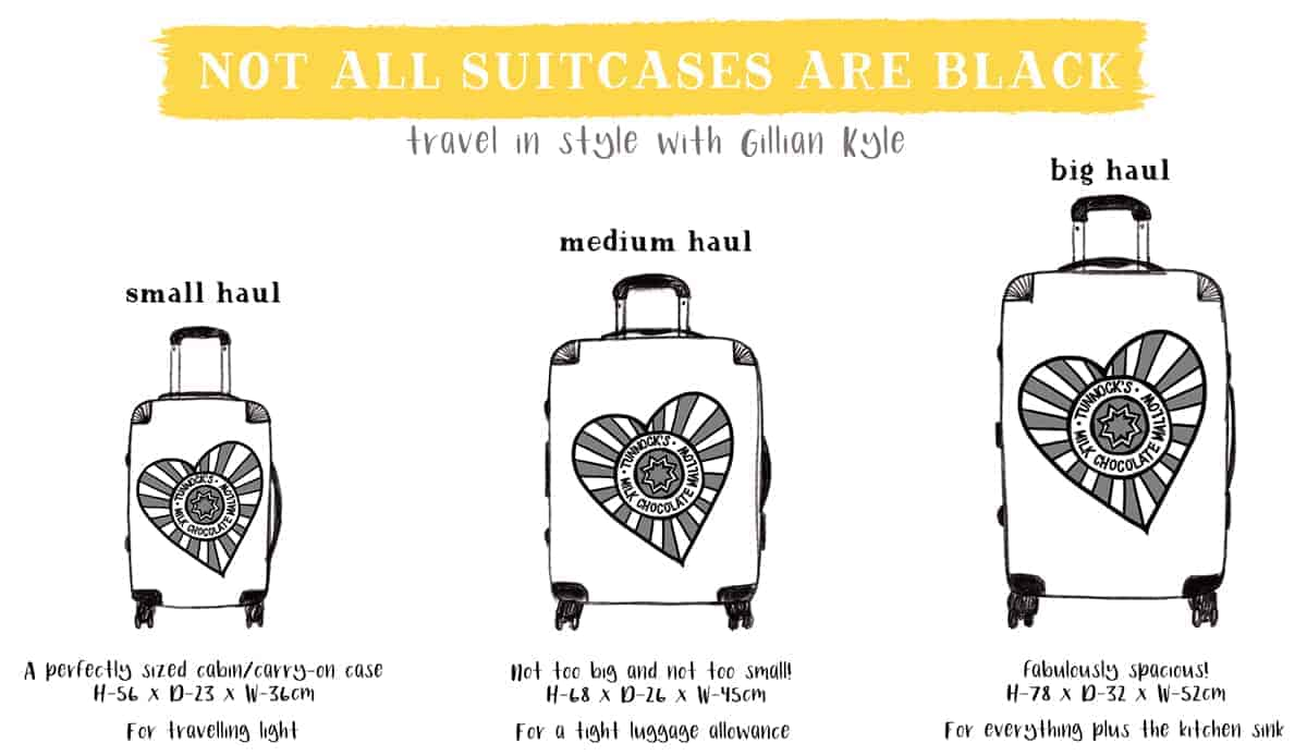 Scottish suitcases by Gillian Kyle
