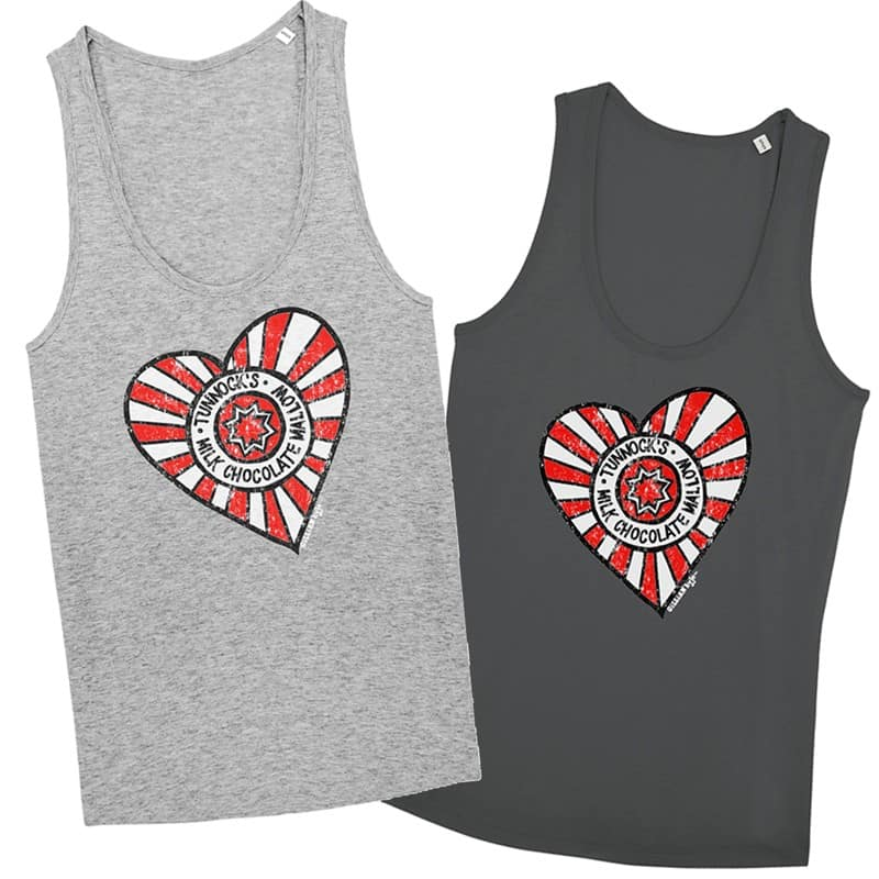 Tunnock's Heart Vests by Gillian Kyle