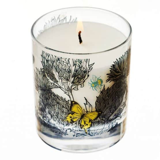Scottish Thistle Scented Soy Wax Candle by Gillian Kyle
