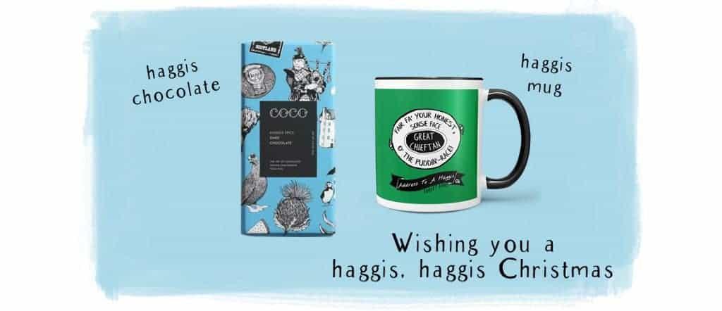 Haggis spice chocolate Christmas