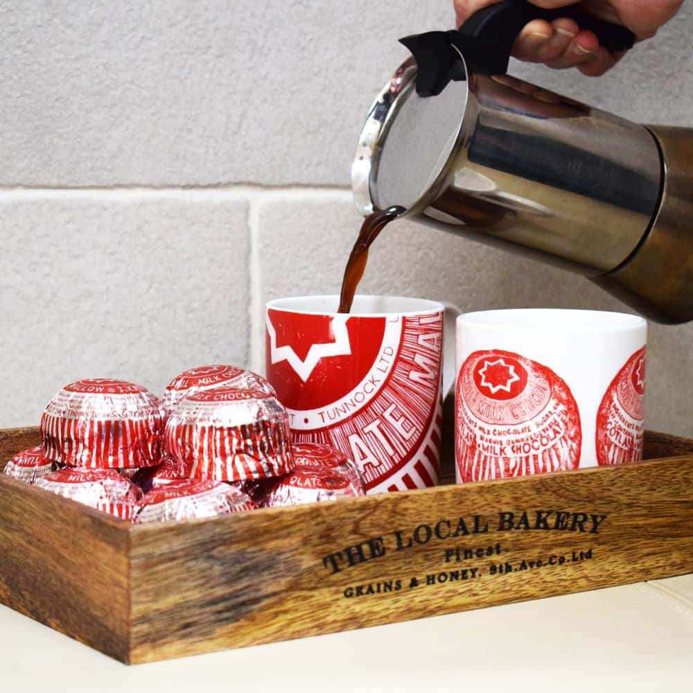 Tunnocks Mugs by Gillian Kyle