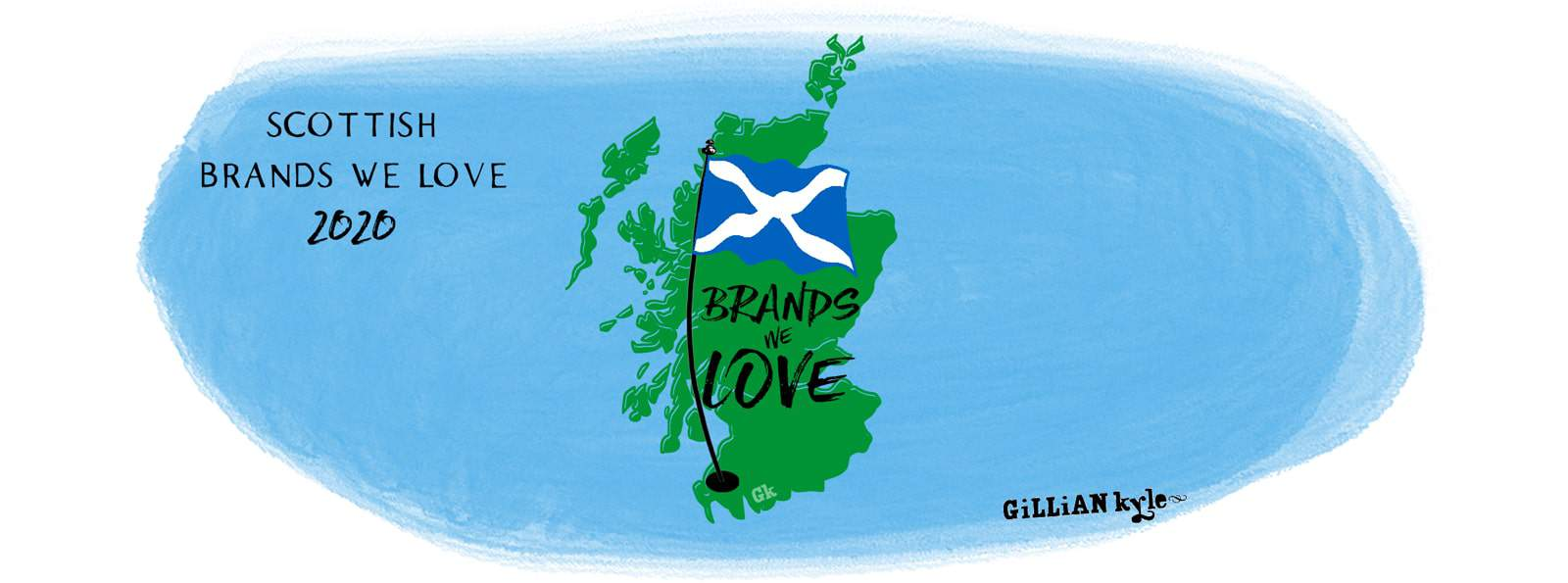 Scottish brands we love 2020 illustration by Gillian Kyle
