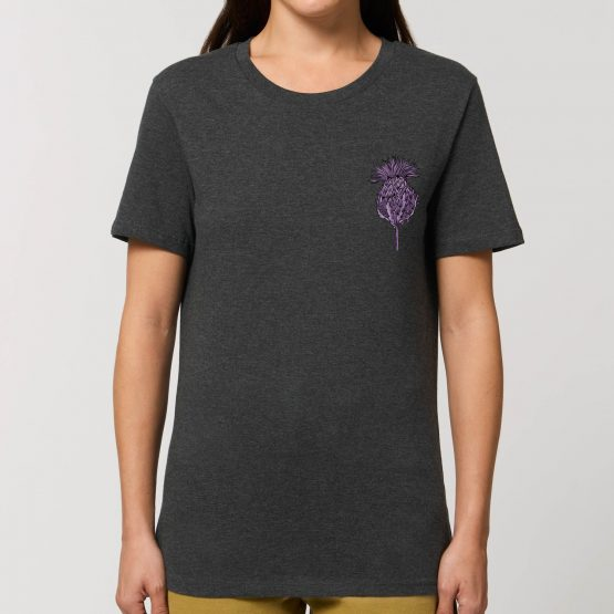 Scottish Thistle Womens T-shirt by Gillian Kyle - modern design