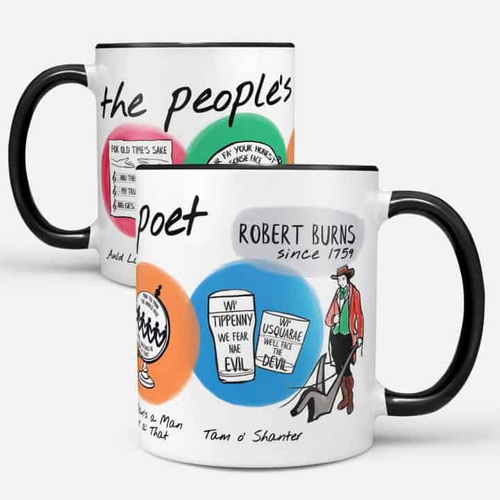 Robert Burns Poems mug