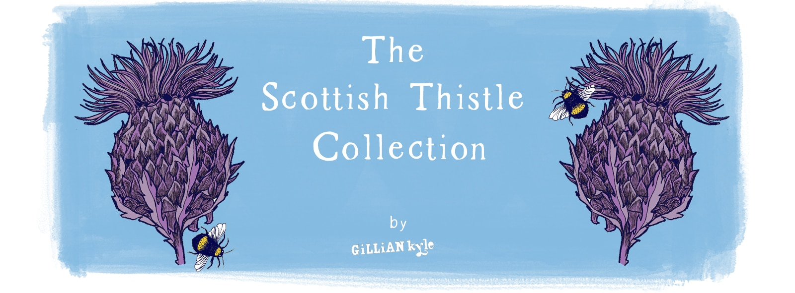 Scottish Thistle illustration by Gillian Kyle