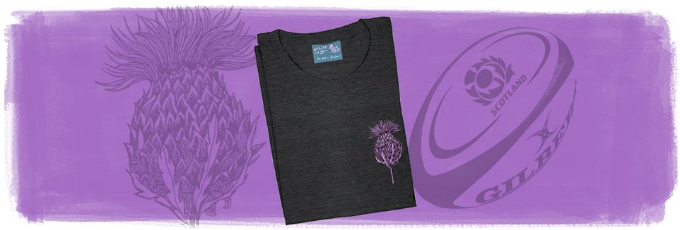 Scottish Thistles t-shirts by Gillian Kyle