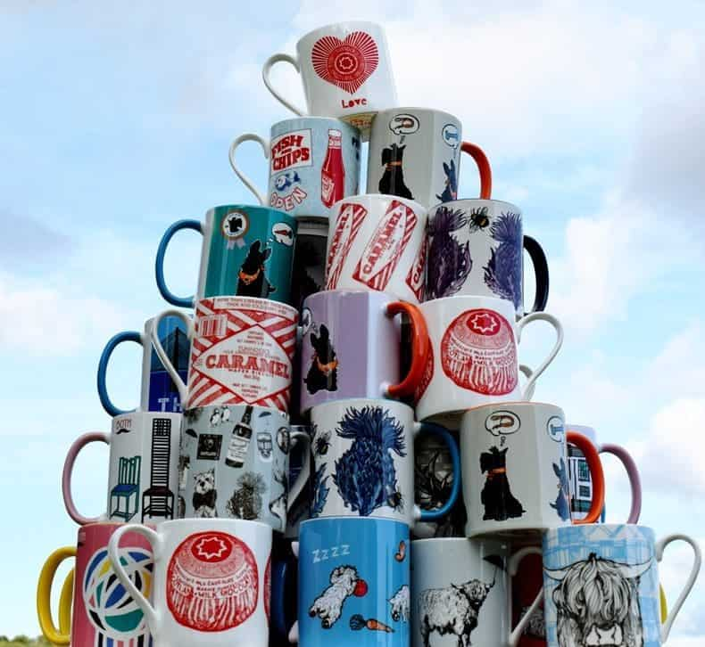 Scottish mugs mountain