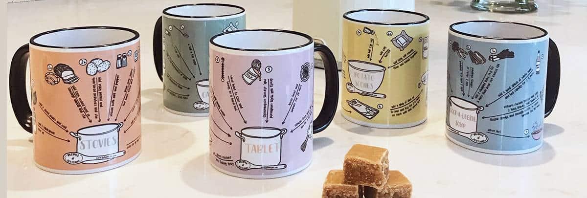 Scottish mugs Recipes of Scotland Collection