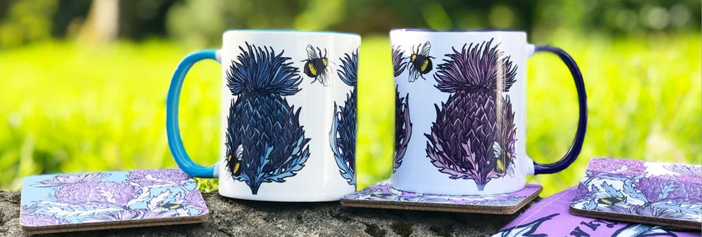 Scottish Thistle Scottish mugs