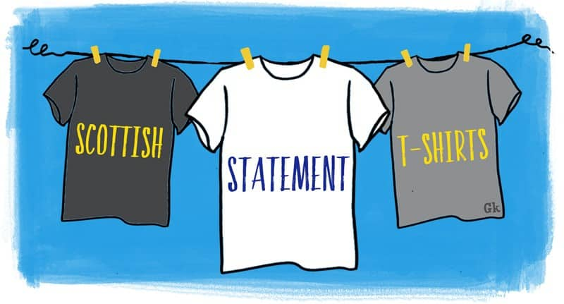 Scottish t-shirts by Gillian Kyle