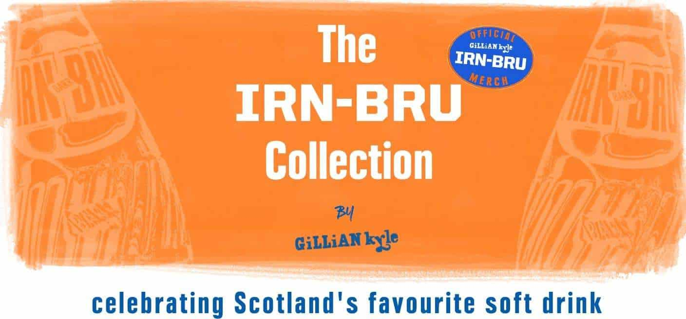 IRN-BRU Gifts and Merchandise Collection from Scottish Artist Gillian Kyle