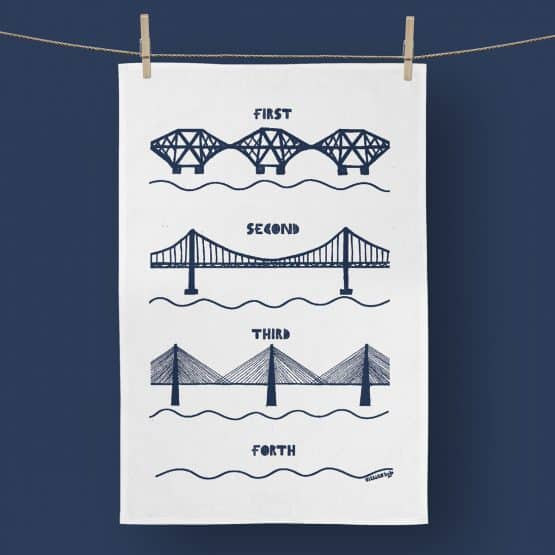 Forth Bridges tea towel by Gillian Kyle