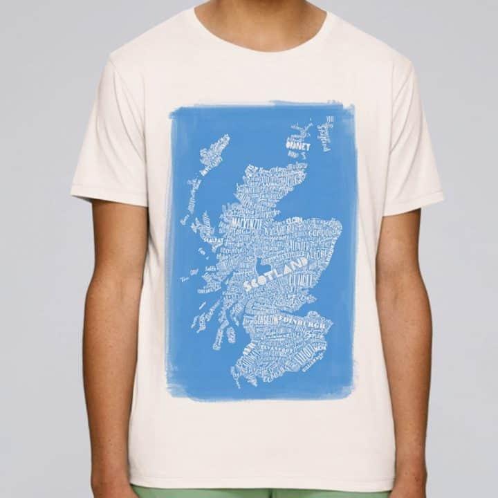 Scottish Map t-shirt