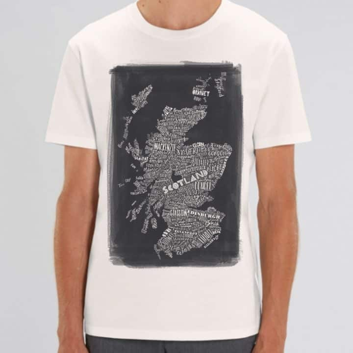 Scottish Map t-shirt
