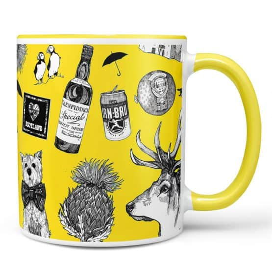 Love Scotland Yellow Mug