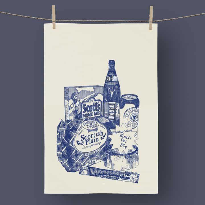 Scottish Breakfast tea towel