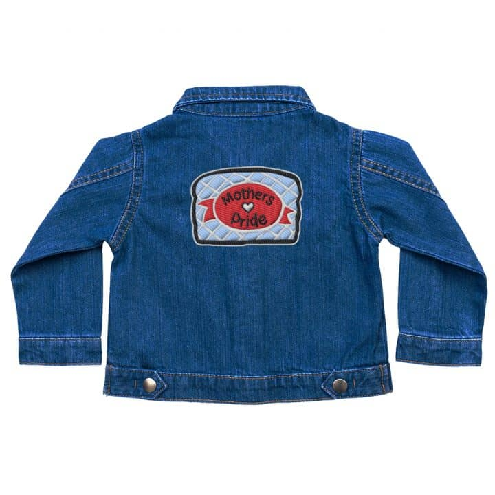 Mother's Pride baby denim jacket by Gillian Kyle