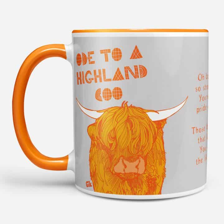 Ode to a highland cow chunky mug by Gillian Kyle