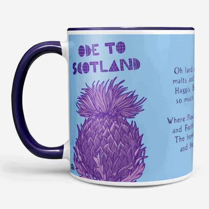 Ode to Scotland Chunky Mug by Gillian Kyle