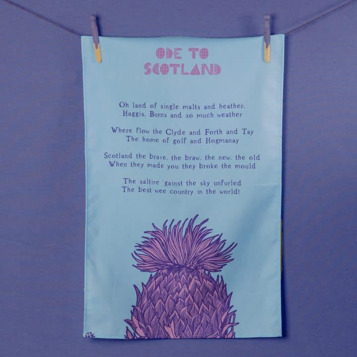 Ode to Scotland tea towel