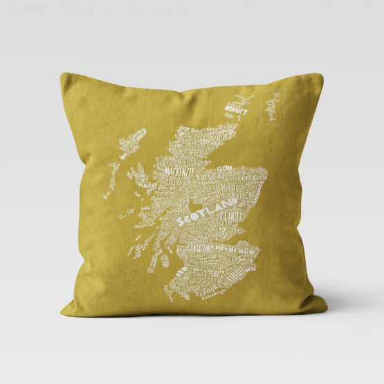 Scottish Map cushion by Gillian Kyle
