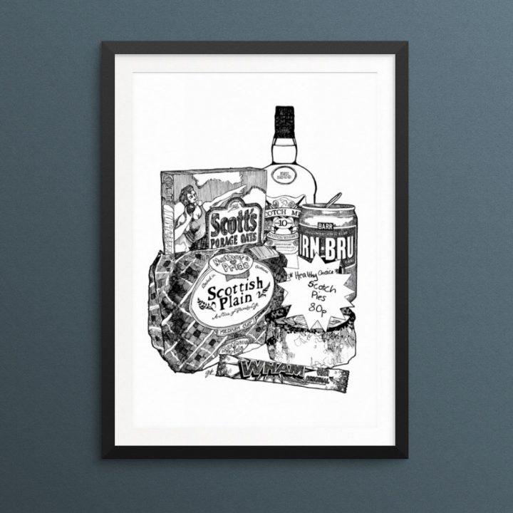 Scottish Breakfast Print by Gillian Kyle