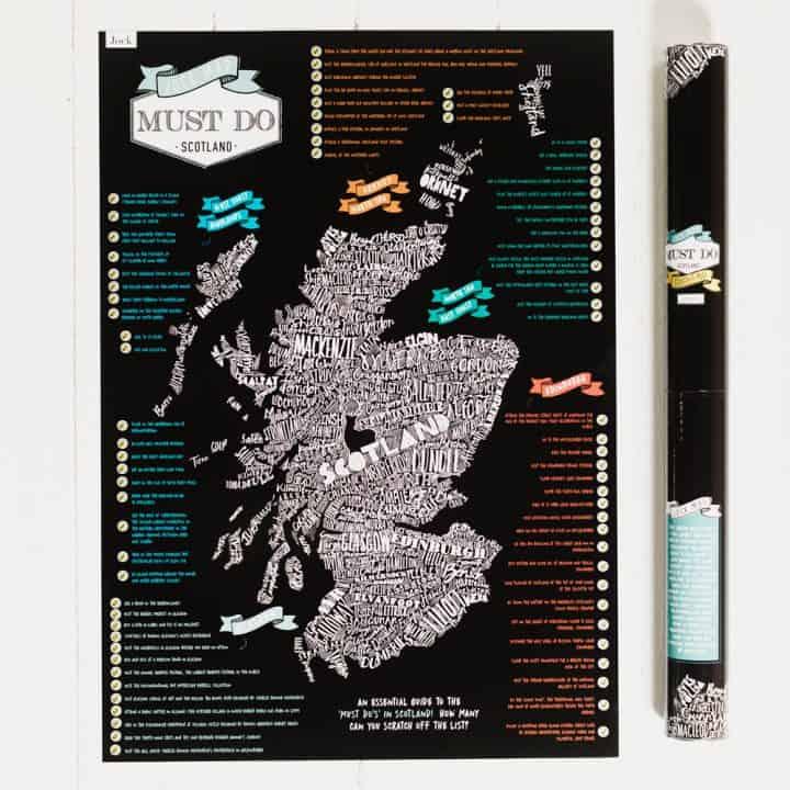Must Do Scotland Scratch Map by Gillian Kyle